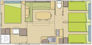 plan mobilhome grand confort 3 chambres
